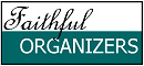 Faithful Organizers logo, 25 percent