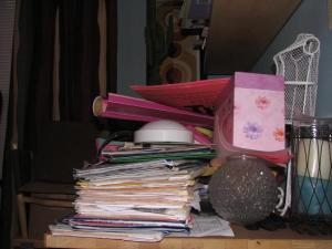 Clutter Piled On Top of Important Files
